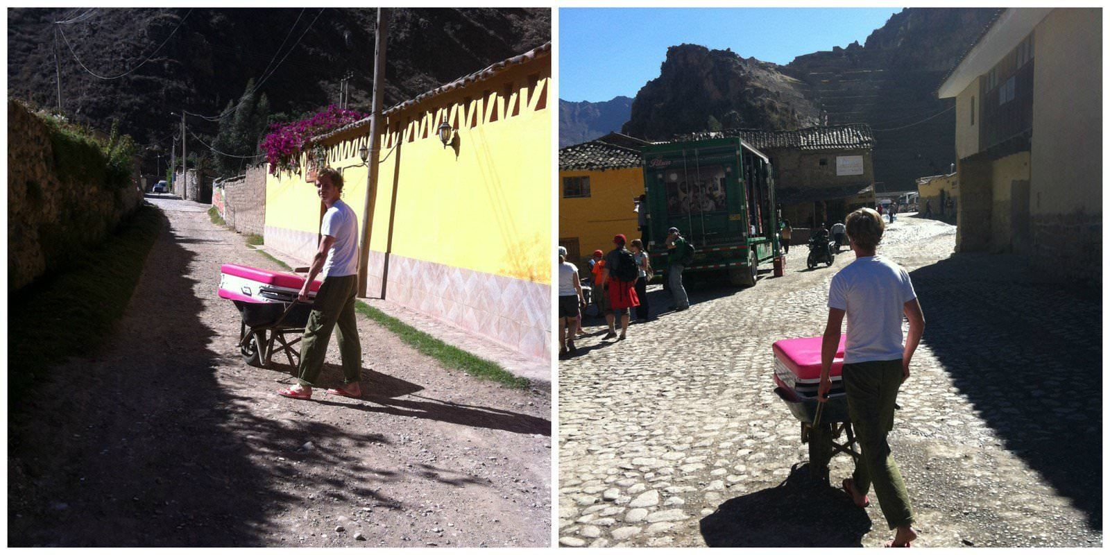 massage-bed-pushing-the-wheelbarrow-in-ollaytantambo-peru