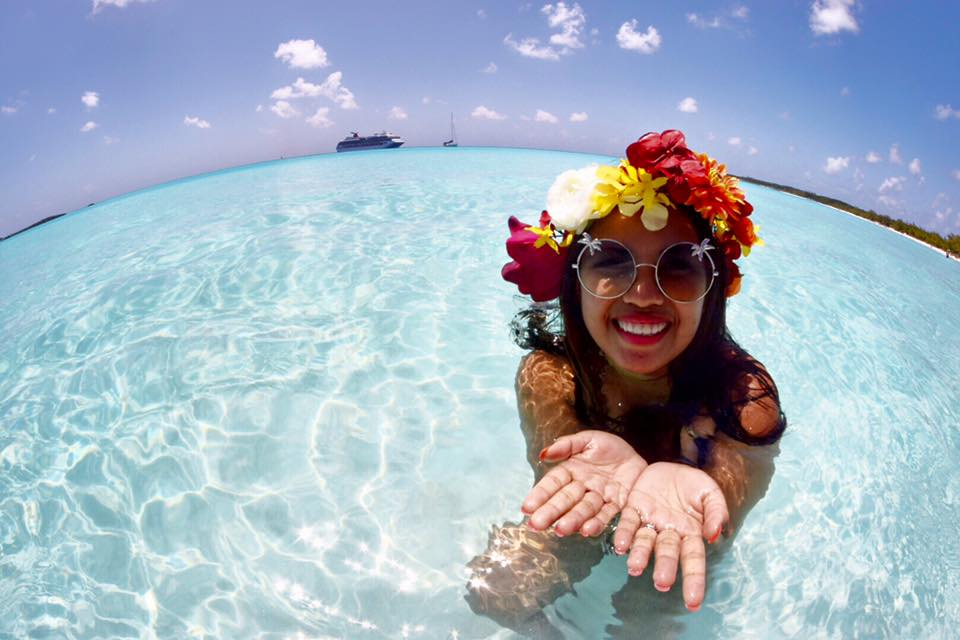 Visa Experiences Around the World Trip - Filipina Backpacker in Bahamas