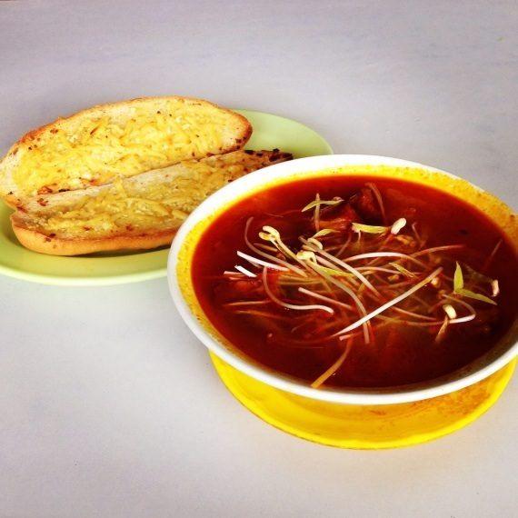 ChaoLong and Garlic Bread