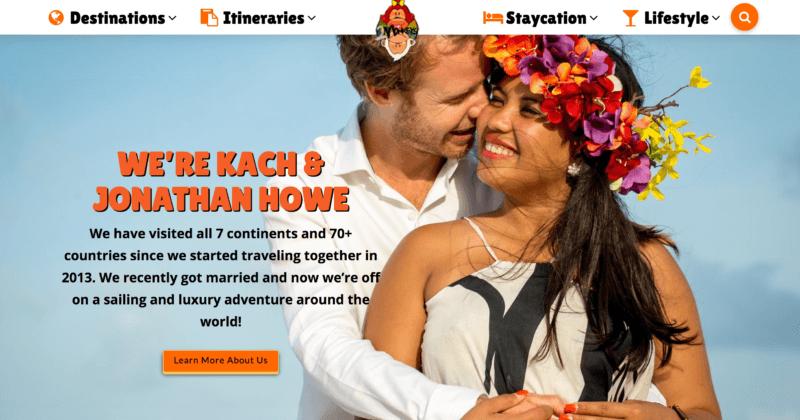 2017 Two Monkeys Travel Website Design
