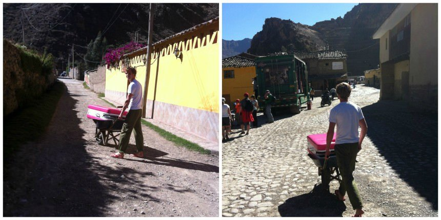 Our massage business in Ollantaytambo, Peru