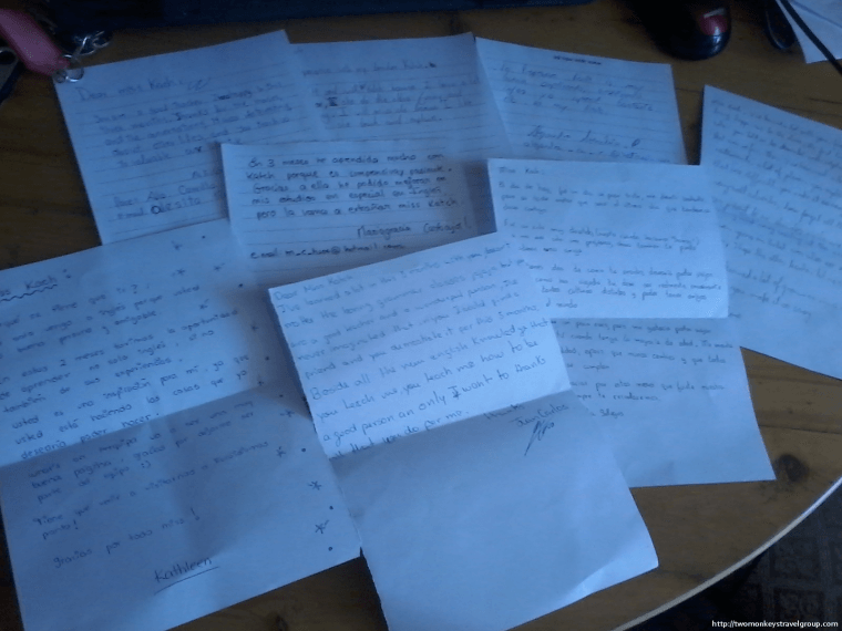 Thank you letters from my students! =)