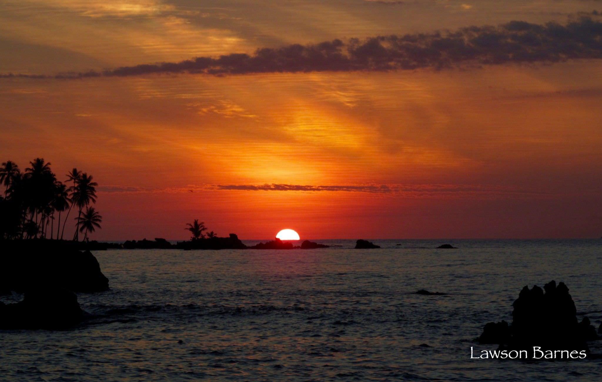 Sunset corcovado costa rica beach paradise