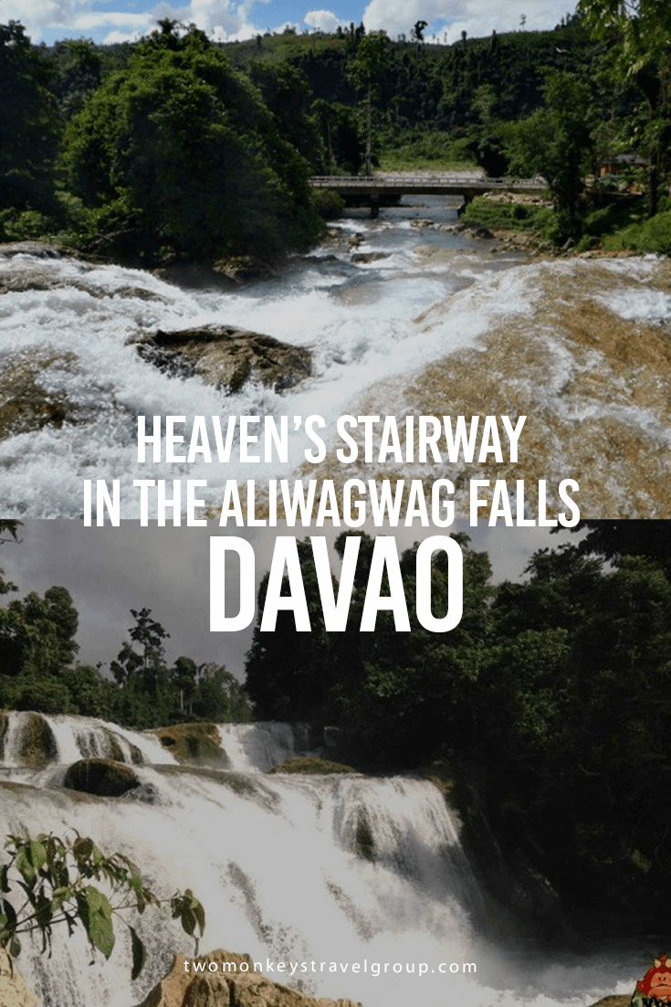 Heaven's Stairway in the Aliwagwag Falls in Davao