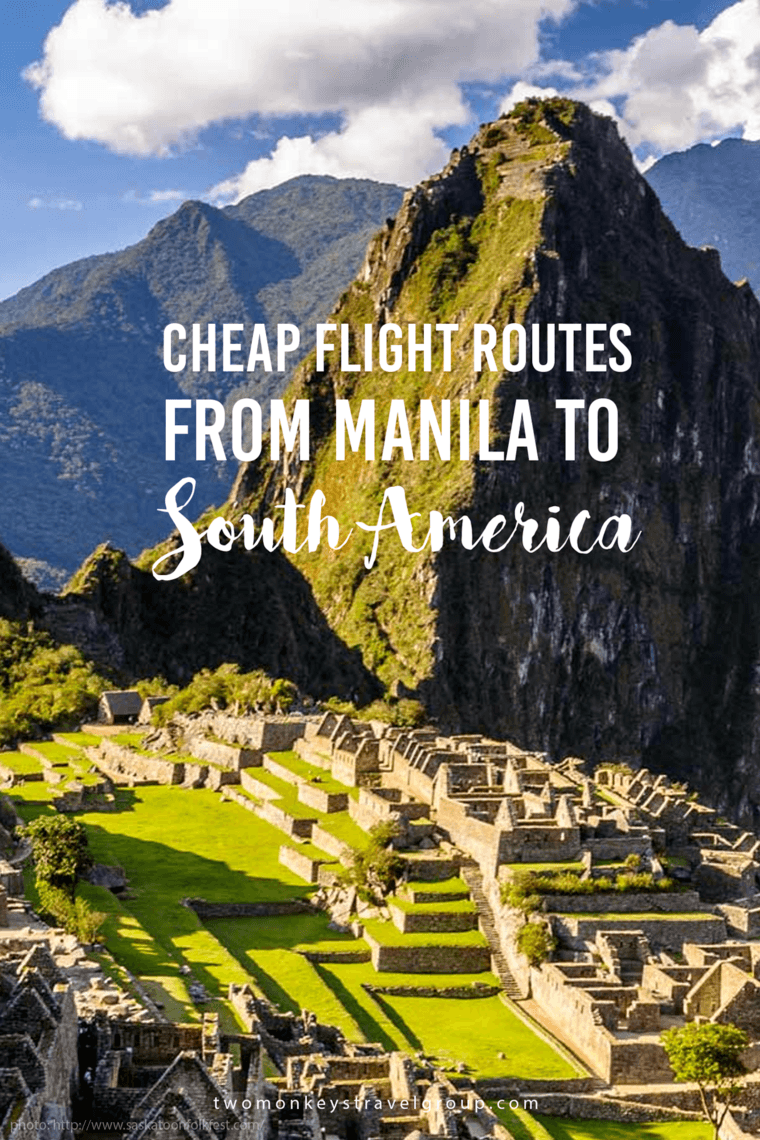Cheap Flight Routes from Manila to South America