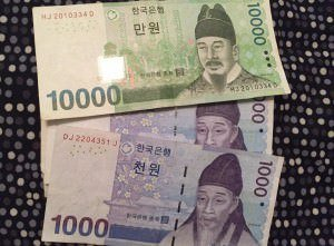 South-Korean Won currency exchange