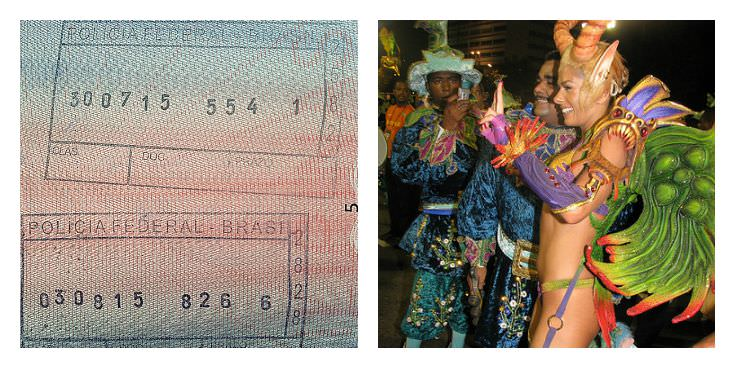 Two Monkeys Travel - Passport Stamps - Brazil