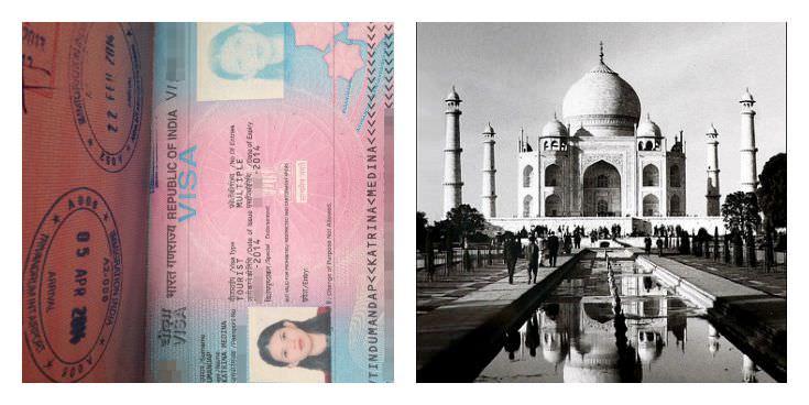Two Monkeys Travel - Passport Stamps - India