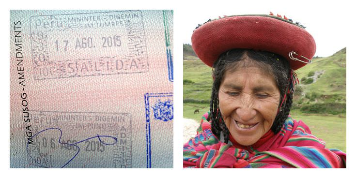Two Monkeys Travel - Passport Stamps - Peru