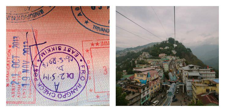 Two Monkeys Travel - Passport Stamps - Sikkim - India