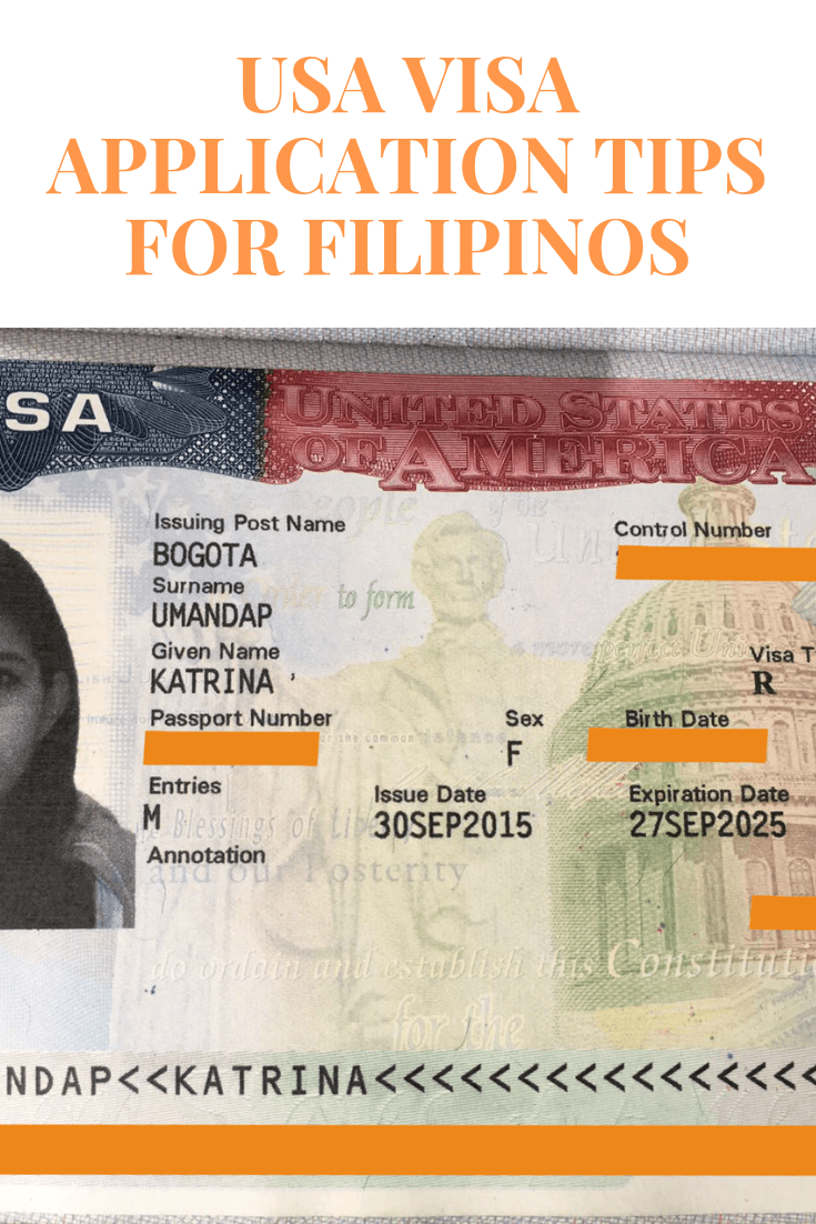 USA Visa Tips for Filipinos