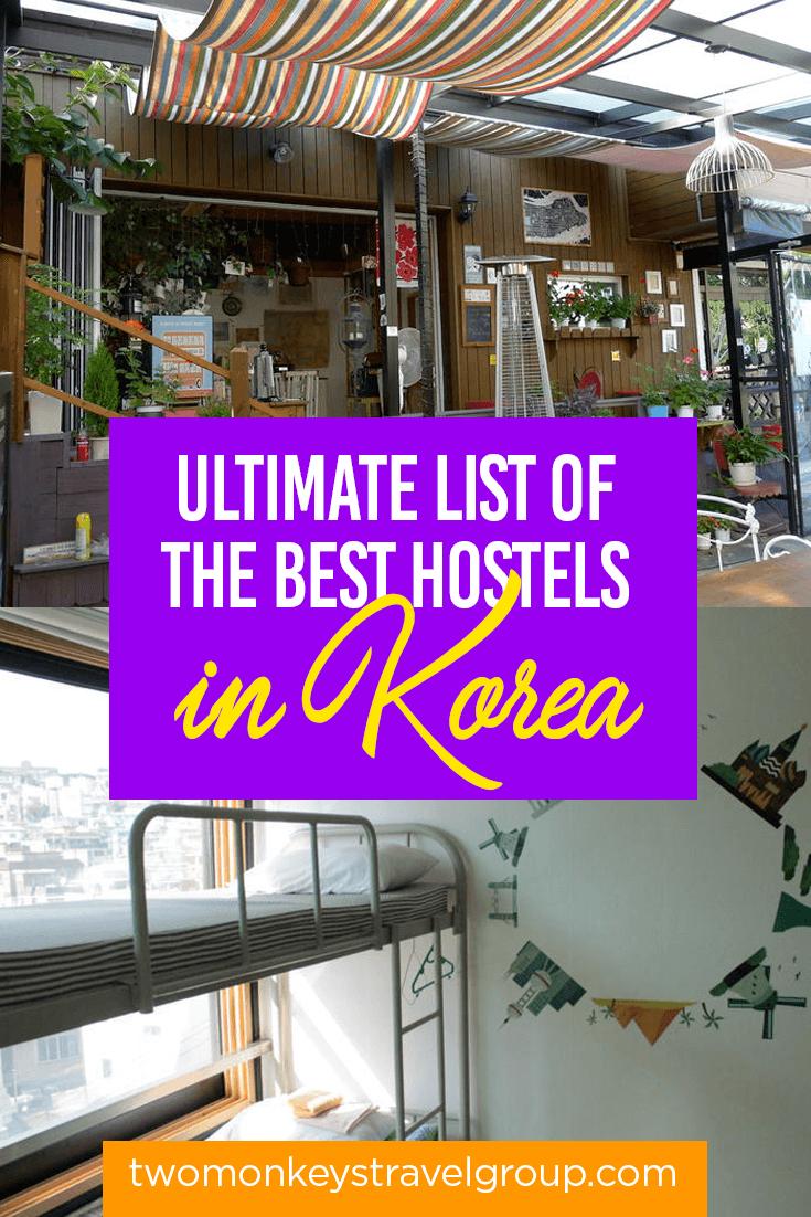 List of the Best Hostels in Korea