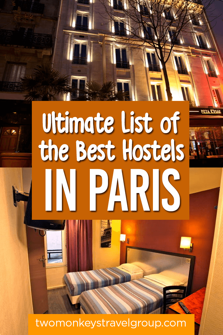 List of the Best Hostels in Paris