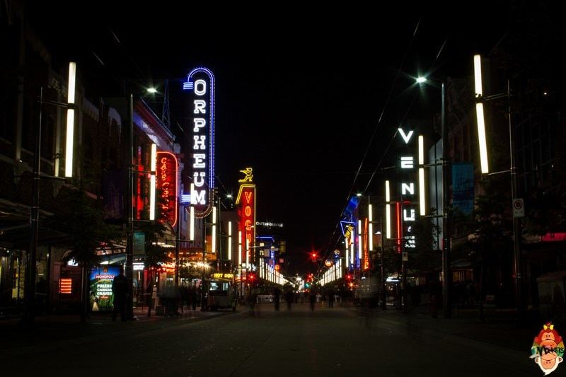 7 concert venues in Vancouver. Granville Street has some great venues.