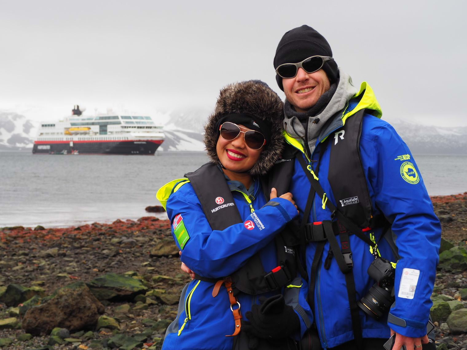 Kach and Jonathan in Antarctica