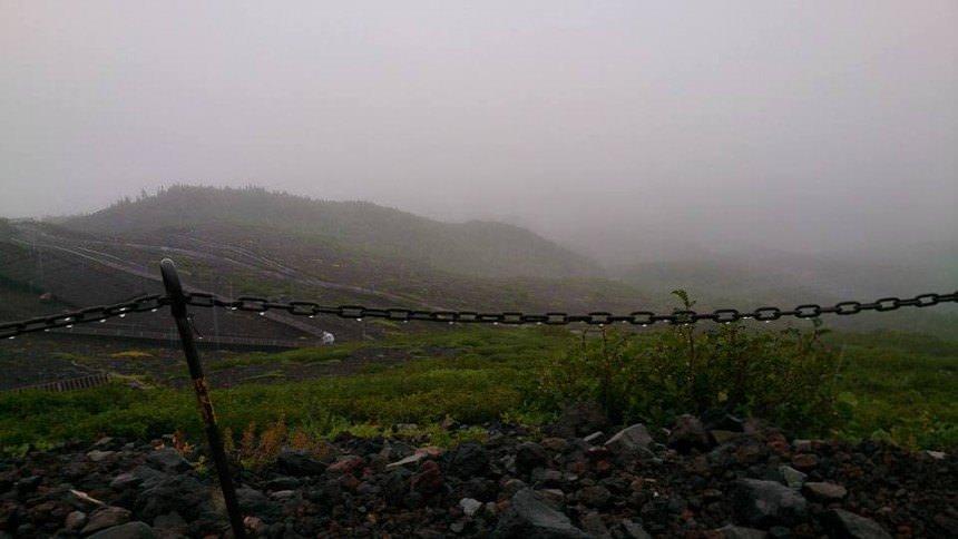 Mt. Fuji on a stormy day(Yamanashi and Shizuoka)