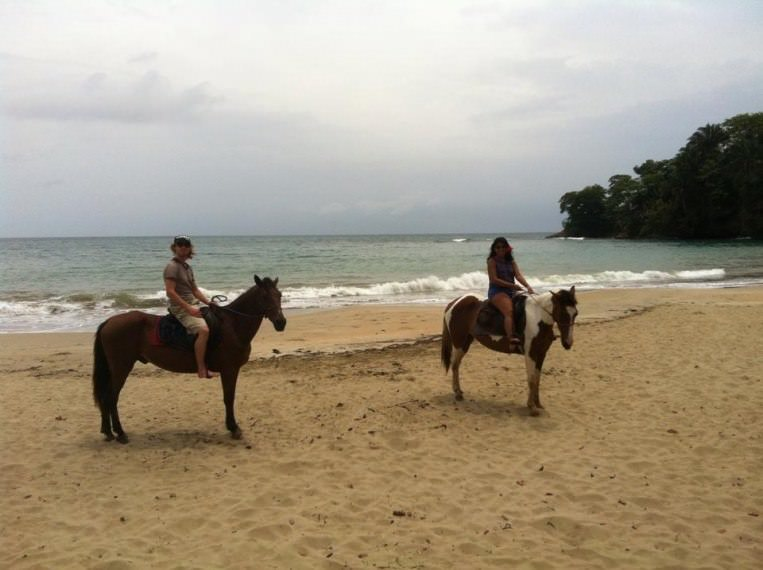 Horseback Riding and Swimming with them in Puerto Viejo, Costa Rica