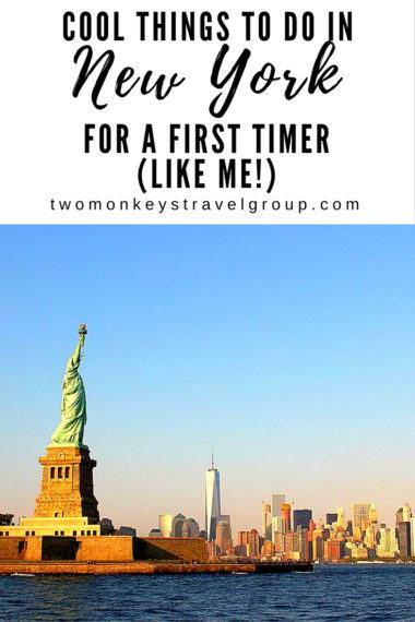 Cool Things to do in New York for a First Timer (like me!)