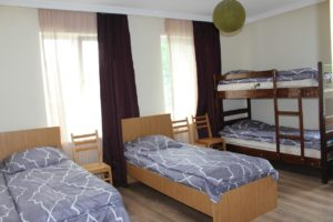 Hostel Bude Price:Dorms from$7.09 whilst Privates from $10.05 Check the latest price on Booking.com Compare the cheapest rates on Hotelscombined Why is it one of the besthostels in Georgia? FAMOUS FOR:Hostel Bude is a clean, cozy and comfortable hostel in a good location. It has a cool atmosphere, with very helpful staff. It offers a nice view from the balcony. The room is clean and has comfortable beds too. It's a very friendly place and truly one of the best hostels in Kutaisi, Georgia.