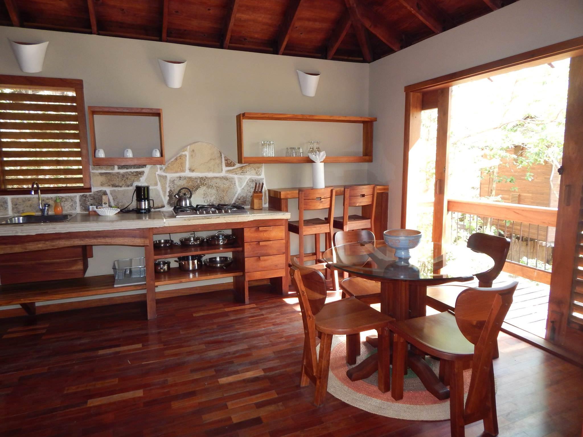 Kitchen in Aqua Wellness Resort Nicaragua