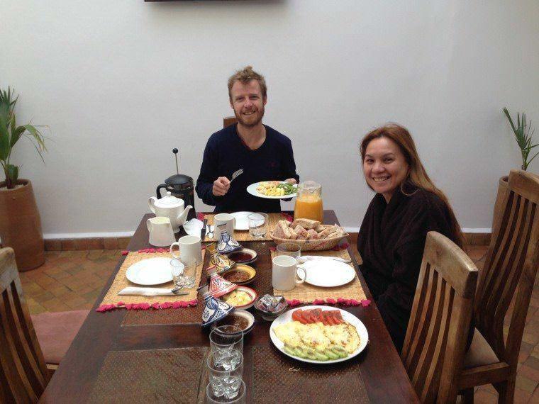 Breakfast time in Rebali Riads