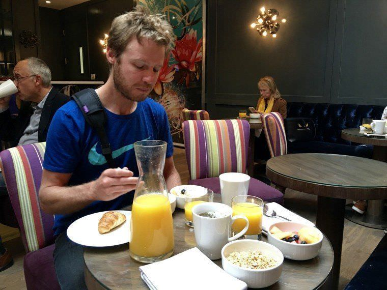 breakfast time at Luxe Rodeo Drive Hotel