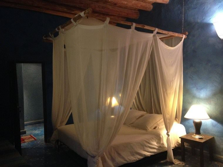 Our Bedroom at Dar Qamar in Agdez, Morocco