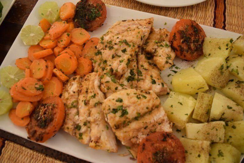 Our dinner at Rebali Riads