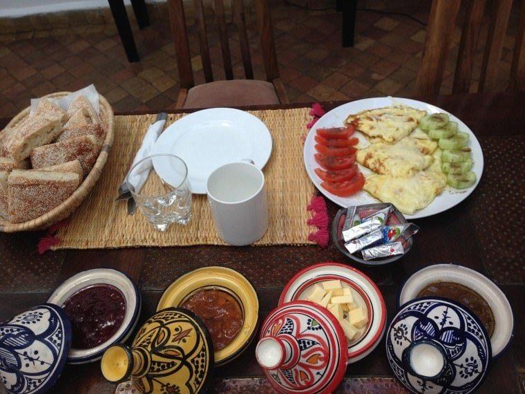 Breakfast at Rebali Riad Morocco Hotel Review 1