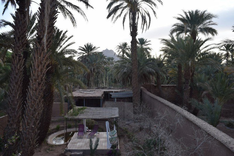 The sunrise view at Dar Qamar in Agdez, Morocco