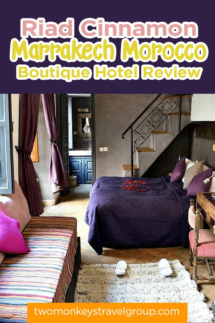 Riad Cinnamon, Marrakech Morocco - Boutique Hotel Review