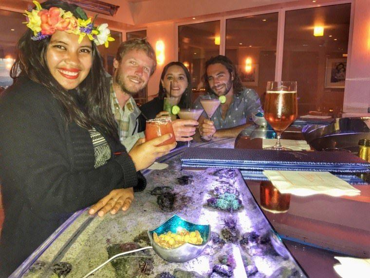 Dinner at Four Seasons Santa Barbara California with Kach and Jonathan