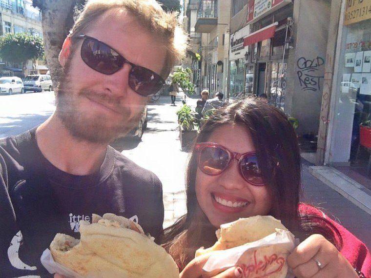 Travel to Israel for Filipinos - eating street food in Tel Aviv