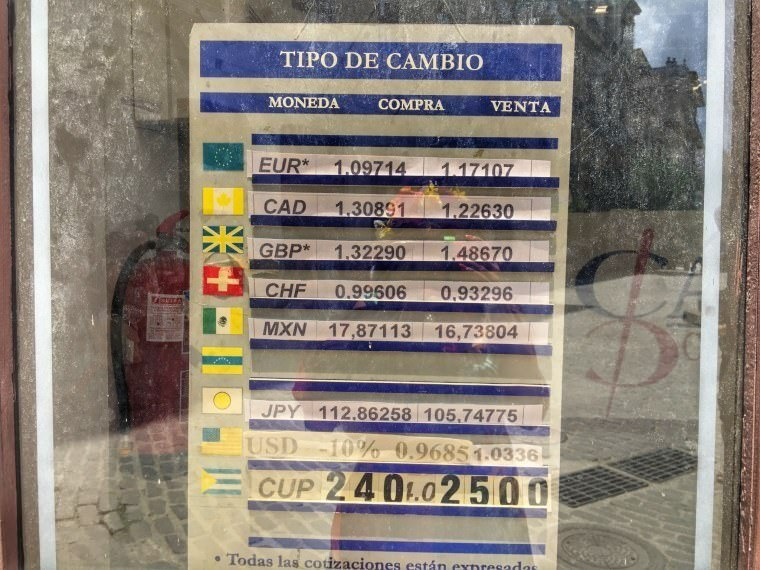 Exchange Rate in Cuba on April 2016 - Cuba Travel Guide