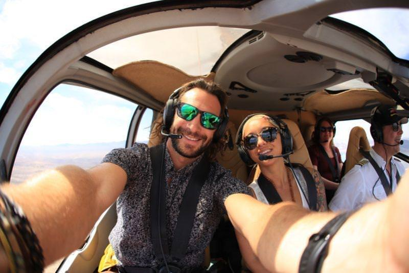 Kalon and Serena selfie Papillion Helecopter ride