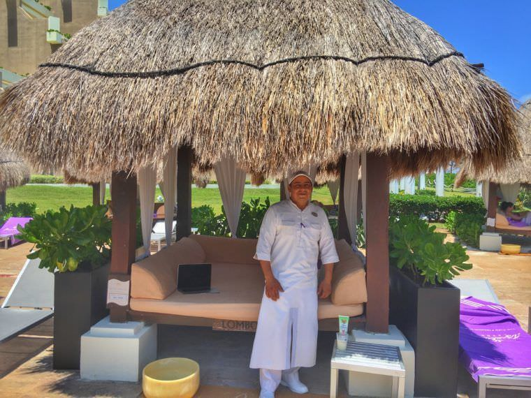 Our butler at the Bali Beds - Paradisus Cancun - All Inclusive Luxury Resort Experience