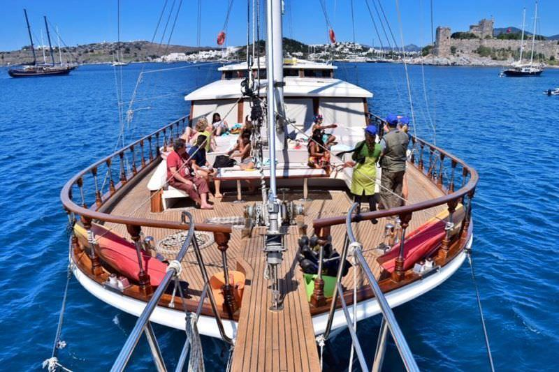 Beach and History of Bodrum, Turkey