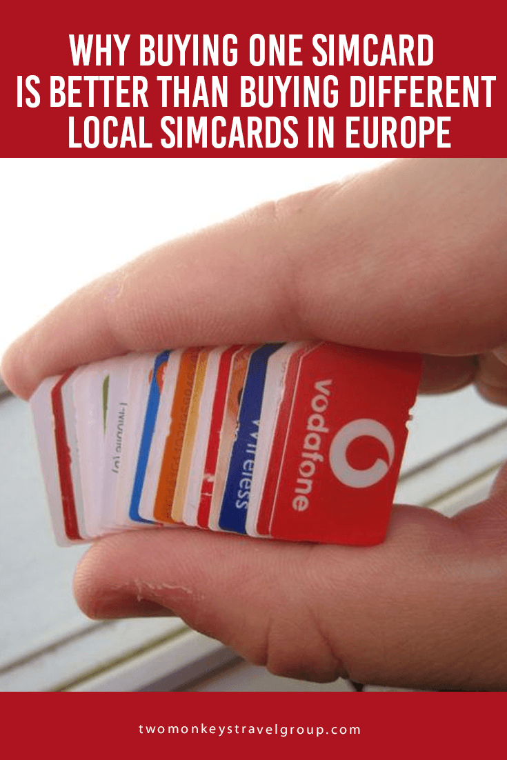 Why Buying One Simcard is Better Than Buying Different Local Simcards in Europe