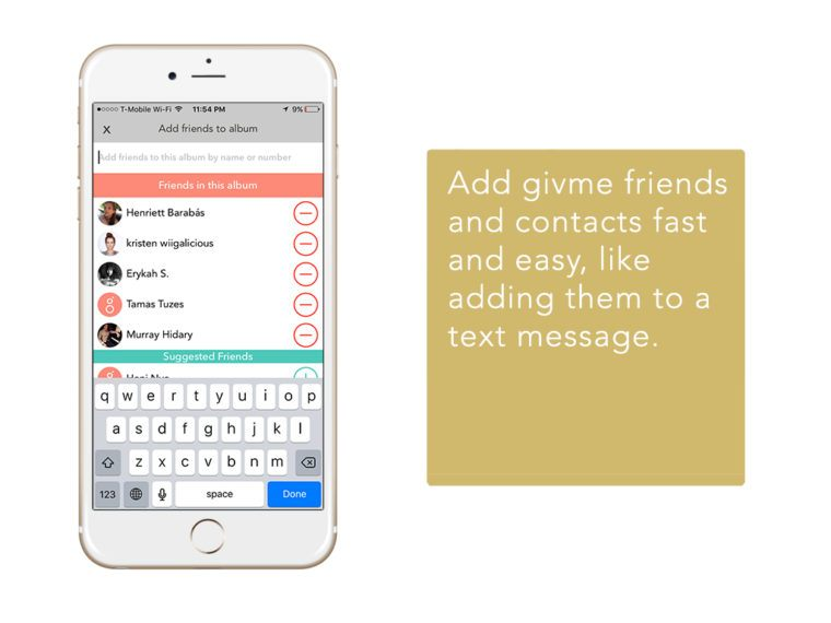 GivMe Photo Sharing App 2