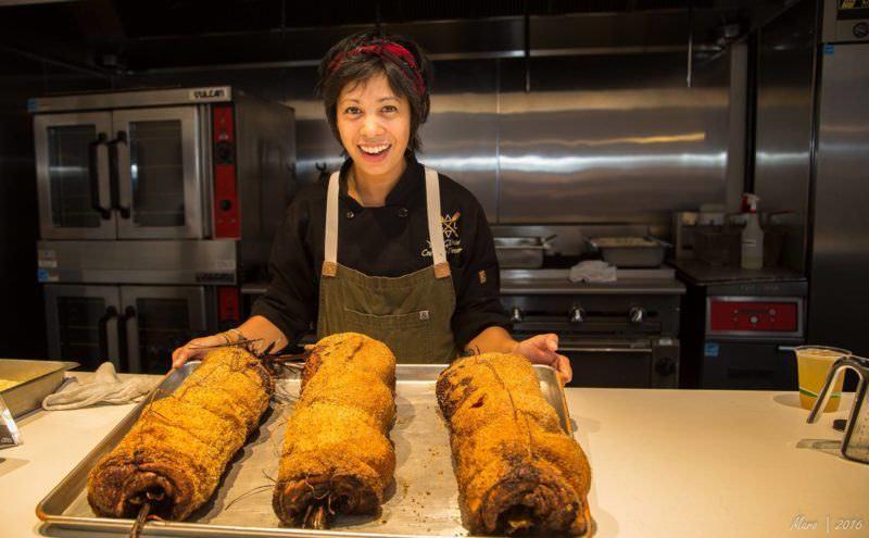 Yana Gilbuena preparing Filipino food! Photo by Malaka Gharib