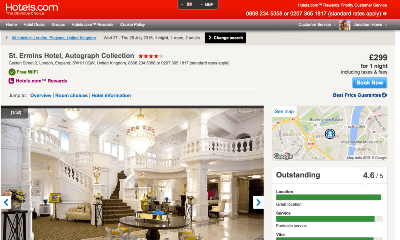 Hotels.com Unrooming Experience in London