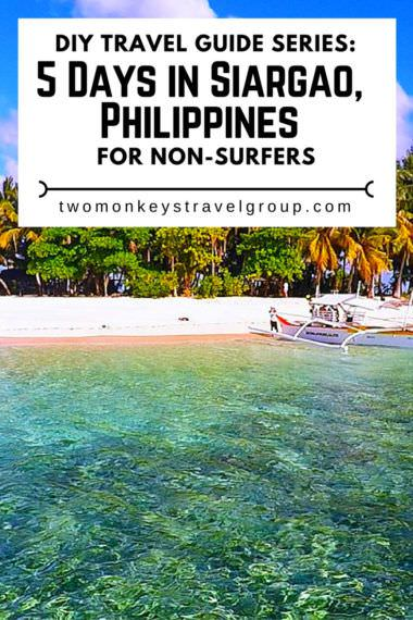 DIY Travel Guide Series: 5 Days in Siargao, Philippines for Non-surfers