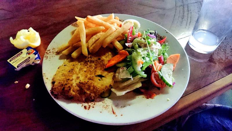 Fish and Chips in Dampier, Western Australia