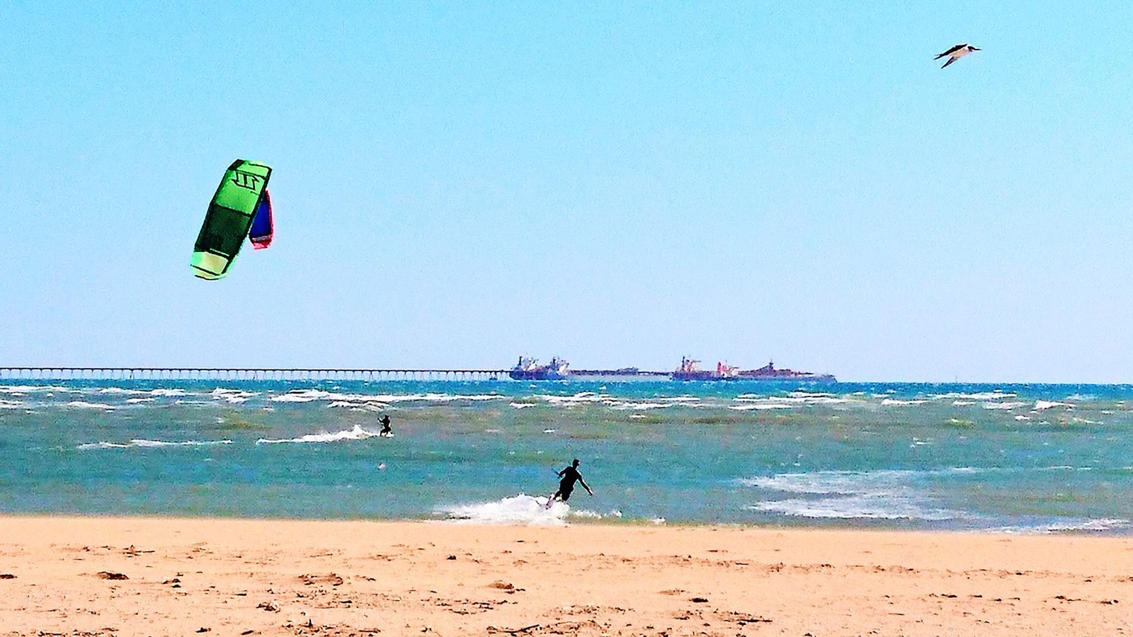 Windsurfing in Port Samson, Western Australia