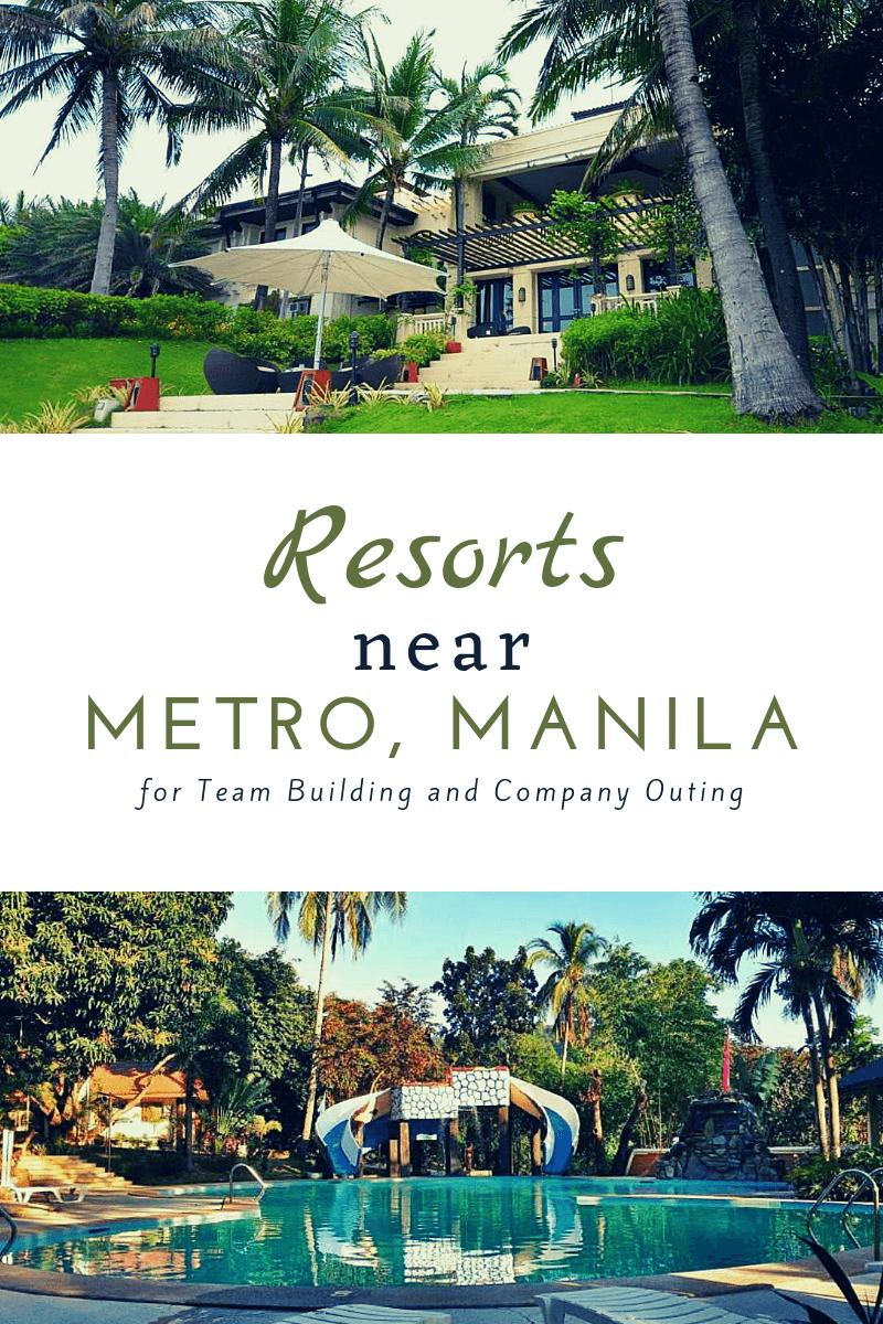 Pinterest resorts near metro manila team building company outings