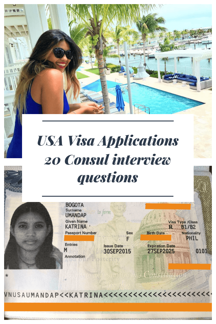 20 USA Visitor/Tourist Visa Consul Interview Questions (B1 & B2 Visa)