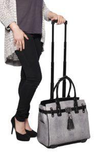 """The Posh"" Python & Alligator Rolling Tote Bag Briefcase Carryall Bag"