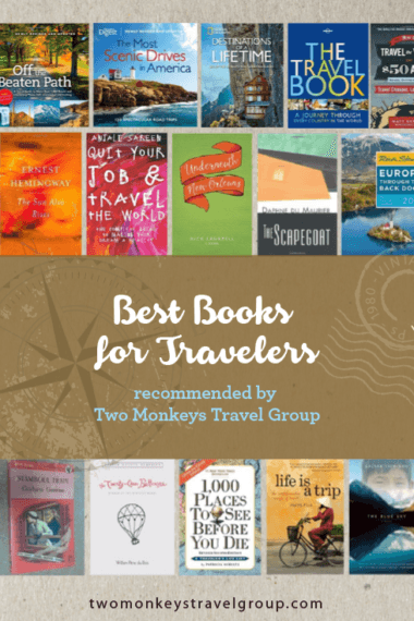 Best Books for Travelers, recommended by Two Monkeys Travel Group