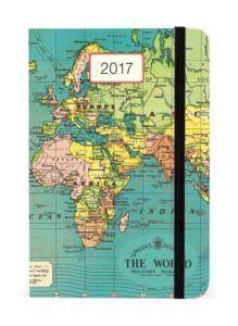 Cavallini 2017 Vintage Map Weekly Planner