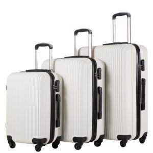 Coolife Luggage 3 Piece Set Suitcase Hard Shell Lightweight
